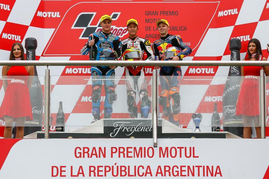 Khairul Idham Pawi, Honda Team Asia, Jorge Navarro, Estrella Galicia 0,0, Brad Binder,Red Bull KTM Ajo, Gran Premio Motul de la República Argentina