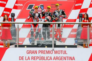 Johann Zarco,Ajo Motorsport, Sam Lowes, Federal Oil Gresini Moto2, Jonas Folger, Dynavolt Intact GP, Gran Premio de la República Argentina