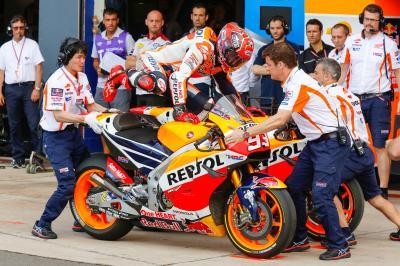 Márquez: «Tiré al máximo después del cambio de moto»