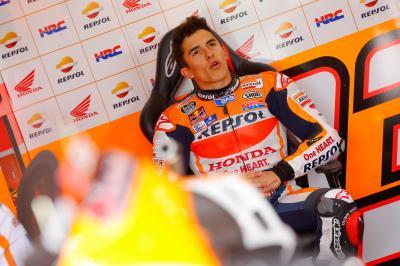 Márquez: «Estoy contento por cómo va la moto»