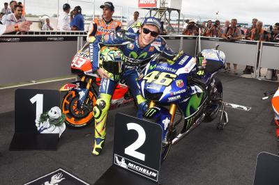 "Rossi: ""I had big problems with the rear tyre"""