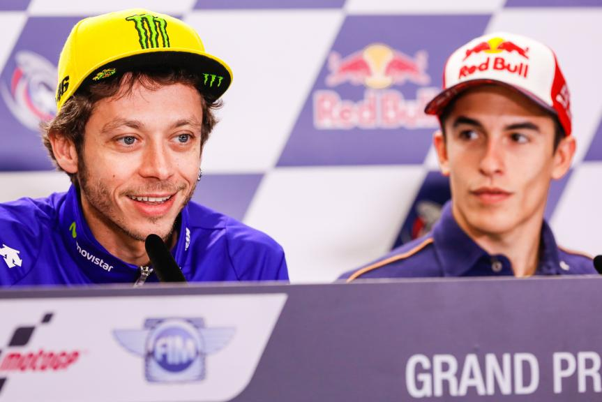Valentino Rossi, Movistar Yamaha MotoGP, Marc Marquez, Repsol Honda Team, Press conference, Red Bull Grand Prix of The Americas