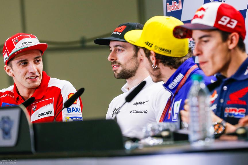 Andrea Iannone, Eugene Laverty, Valentino Rossi, Marc Marquez, Press conference, Red Bull Grand Prix of The Americas
