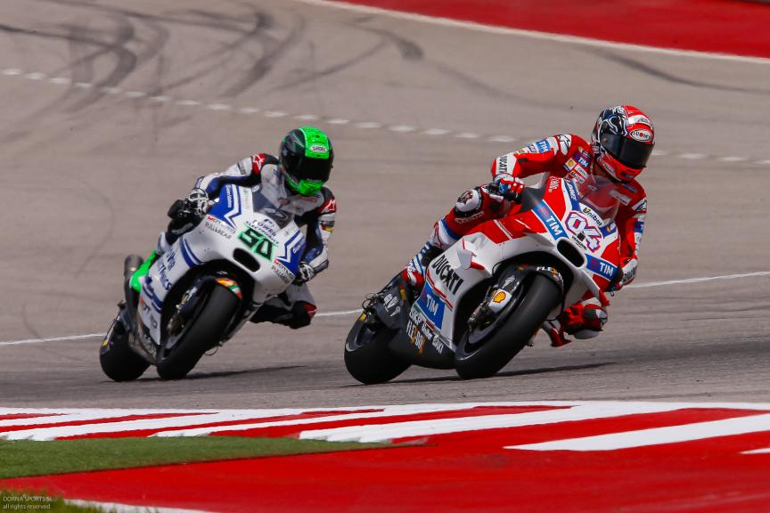 Andrea Dovizioso, Ducati Team, Eugene Laverty, Aspar Team MotoGP, Red Bull Grand Prix of The Americas