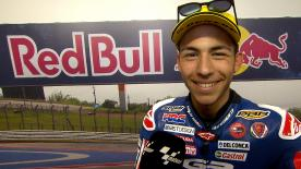 Enea Bastianini finished third, more than half a second from Oettl's lap time.