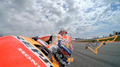 En piste avec Marquez en qualifications