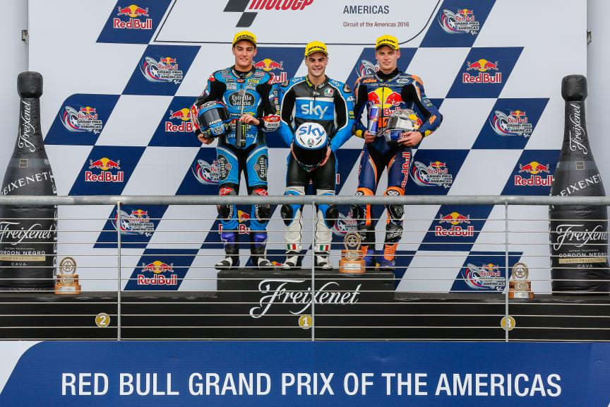 Moto3, Podium, Red Bull Grand Prix of The Americas