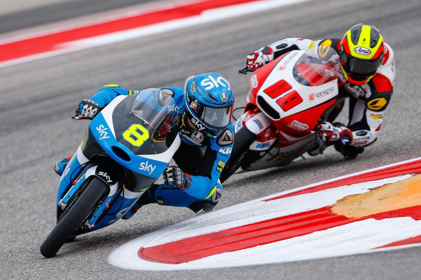 Nicolo Bulega, SKY Racing Team VR46, Khairul Idham Pawi, Honda Team Asia, Moto3, Red Bull Grand Prix of The Americas