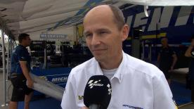 Michelin's Nicolas Goubert talks tyres after the MotoGP battle in Austin.
