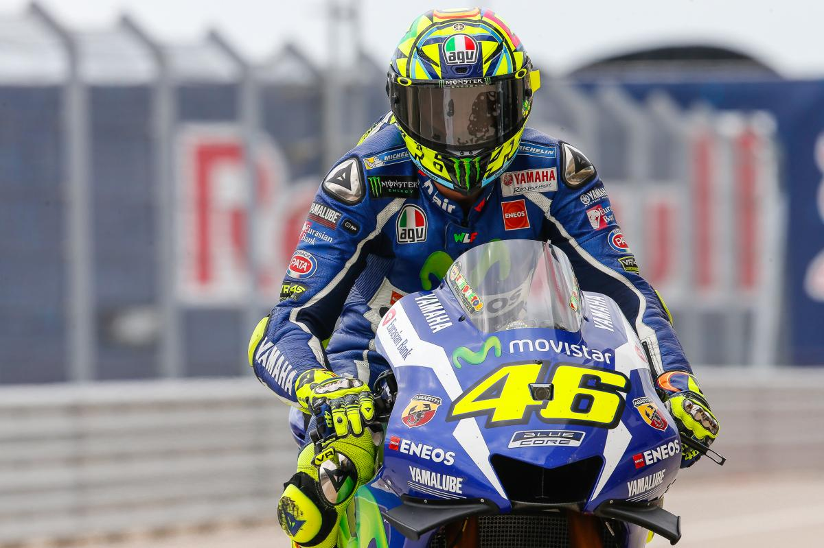 Rossi I Didn T Feel From The Bike I Was Too Fast Motogp