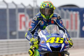 "Rossi: ""I didn't feel from the bike I was too fast"""