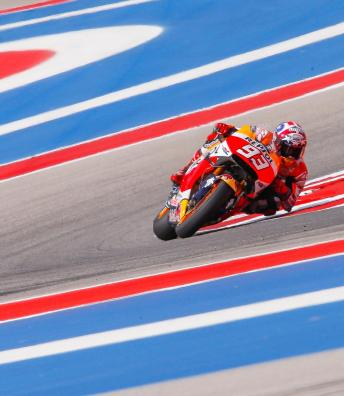 Marquez marches to fourth Austin win as Rossi crashes out