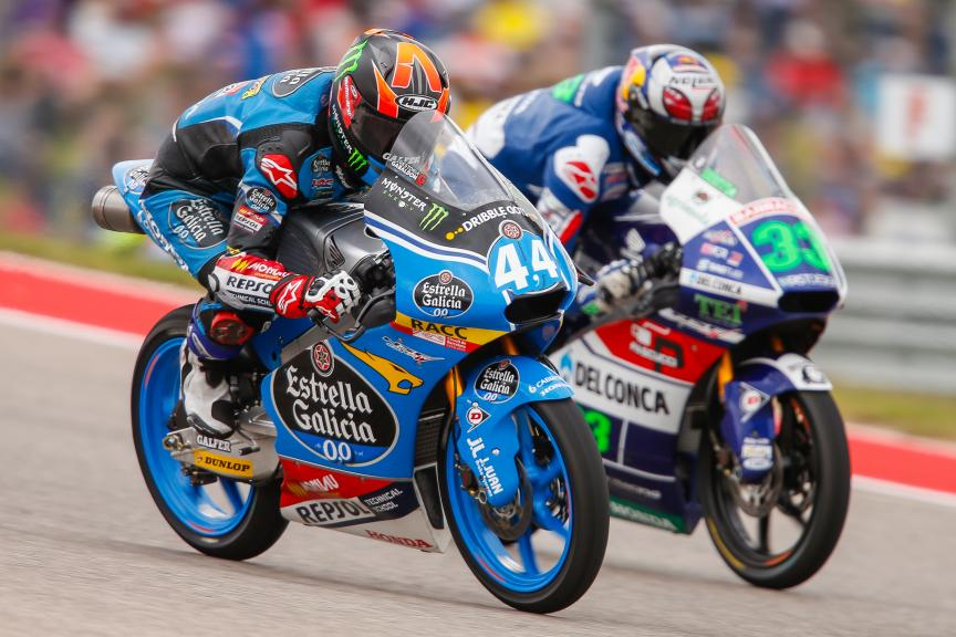 Aron Canet, Enea Bastianini, Estrella Galicia 0,0, Gresini Racing Moto3, Red Bull Grand Prix of The Americas