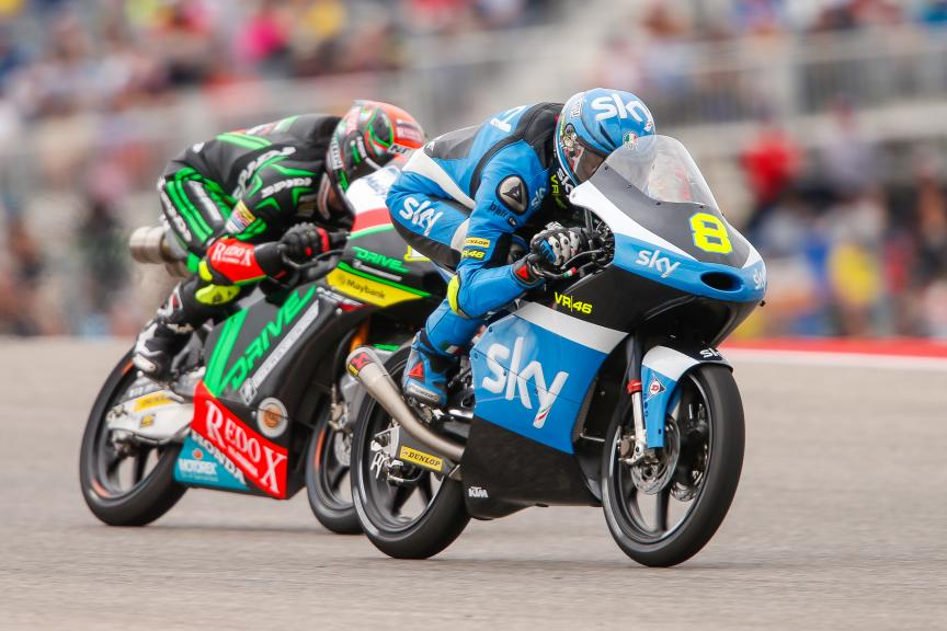 Nicolò Bulega, Jakub Kornfeil, Sky Racing Team Vr46, Drive M7 Sic Racing Team, Jakub Kornfeil, Red Bull Grand Prix of The Americas