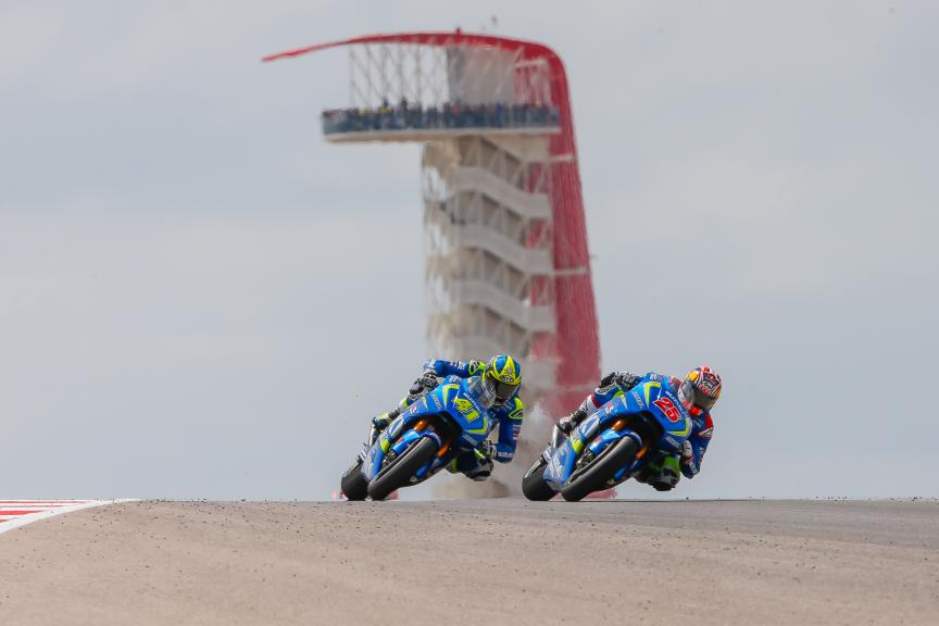 Maverick Viñales, Aleix Espargaro, Team SUZUKI ECSTAR, Red Bull Grand Prix of The Americas