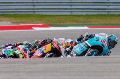 La apretada categoría de Moto3™ llega a Europa