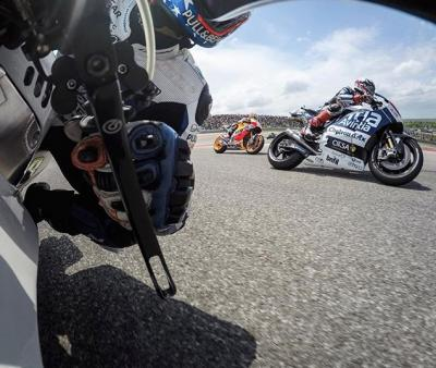 Turning + burning with @motogp during an intense race at