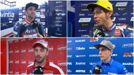 The fastest MotoGP™ riders of the day give us feedback on their Free Practice results at the #SpanishGP.