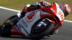 Takaaki Nakagami broke Stefan Bradl's Jerez fastest lap record from 2011 as he topped Friday's practice ahead of Folger and Baldassarri.