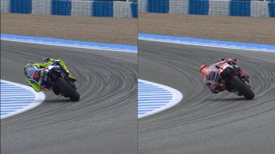 Rossi & Marquez riding style analysis