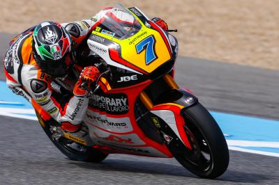 Lap record comes under pressure as Baldassarri leads