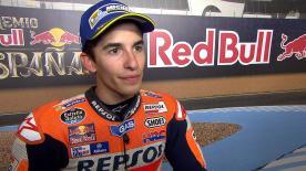 Lo spagnolo di Honda non attacca in primato Yamaha nelle qualifiche di Jerez, partirà dalla terza piazza.