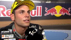 Il pilota Dynavolt Intact GP partirà dalla terza piazza domenica nella gara della classe intermedia.