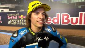 Bulega è primo della qualifiche a Jerez, prima pole per il rookie della classe leggera.