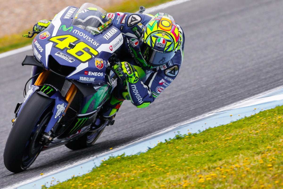 Rossi Wins Three Way Fight For 52nd Pole Position Motogp
