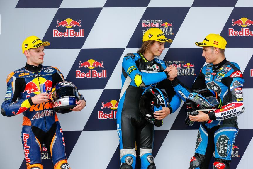 Nicolo Bulega, Brad Binder, Jorge Navarro, Gran Premio Red Bull de España