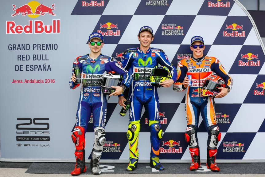 Valentino Rossi, Jorge Lorenzo, Marc Marquez, Gran Premio Red Bull de España