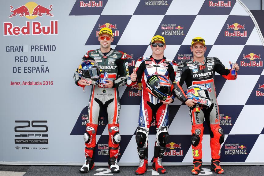 Sam Lowes, Jonas Folger, Sandro Cortese, Gran Premio Red Bull de España