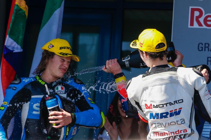 Nicolo Bulega, Francesco Bagnaia, ASPAR Mahindra Team Moto3, Gran Premio Red Bull de España