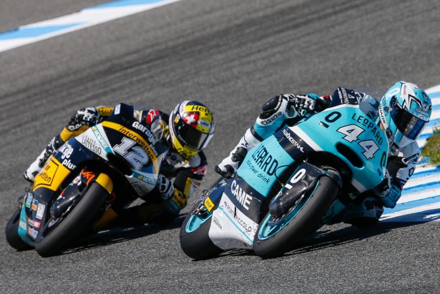 Thomas Luthi, Garage Plus Interwetten and Miguel Oliveira, Leopard Racing, Gran Premio Red Bull de España