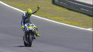 Highlights: Rossi reigns in Spain