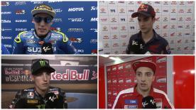 I protagonisti della giornata commentanto la gara sul circuito andaluso.
