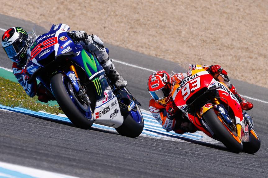 Jorge Lorenzo, Movistar Yamaha MotoGP and Marc Marquez, Repsol Honda Team, Gran Premio Red Bull de España
