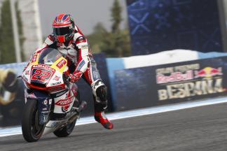 Pole setter Lowes tops Moto2™ Warm Up despite crash