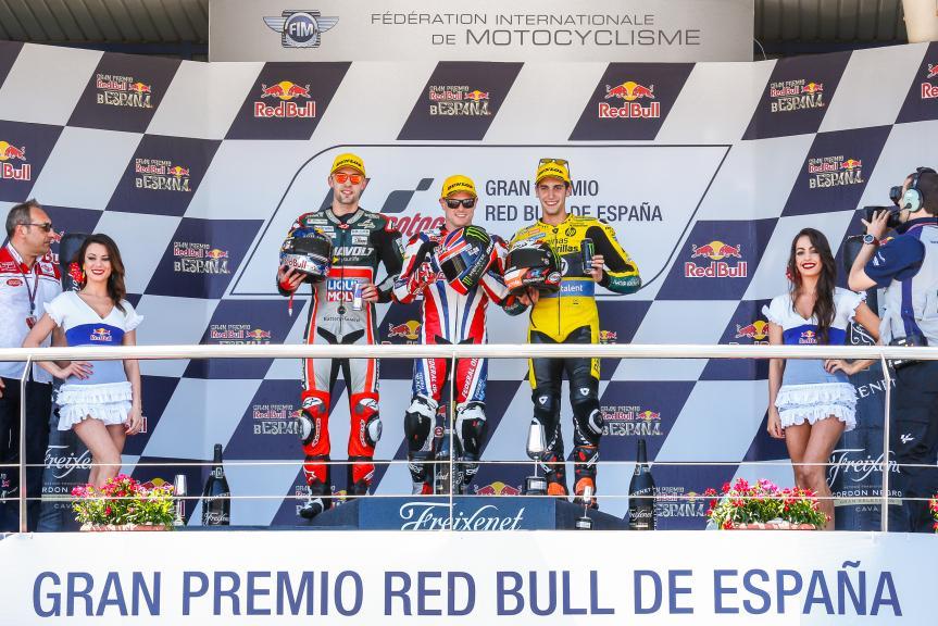 Sam Lowes, Jonas Folger, Alex Rins, Gran Premio Red Bull de España