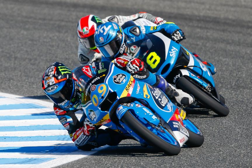 Nicolo Bulega, SKY Racing Team VR46 and Jorge Navarro, Estrella Galicia 0,0, Gran Premio Red Bull de España