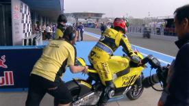 The full Warm Up session for the Moto2™ World Championship at the Spanish GP.
