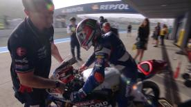 The full Warm Up session for the Moto3™ World Championship at the Spanish GP.