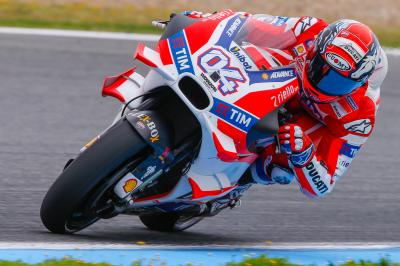 "Dovizioso: ""Some water came out and finished on the rear"""