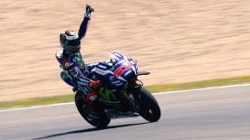 El español se convertía en Jerez en el tercer piloto en 68 años de historia en alcanzar el centenar de podios en la categoría reina.