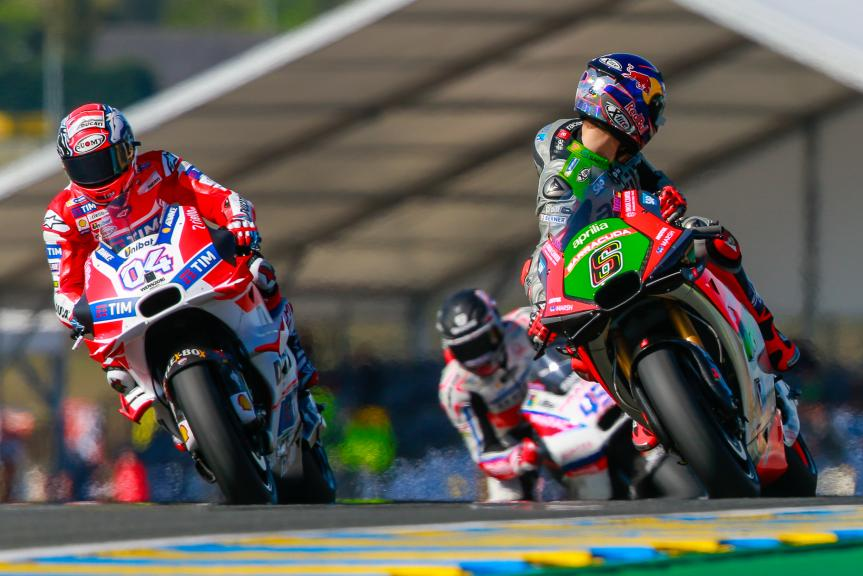 Andrea Dovizioso, Ducati Team, Stefan Bradl, Aprilia Racing Team Gresini, Monster Energy Grand Prix de France