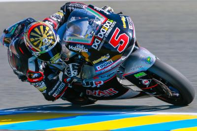 Zarco gives home fans something to cheer about in Le Mans