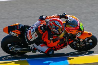 Corsi mène la première séance du Moto2™ en France