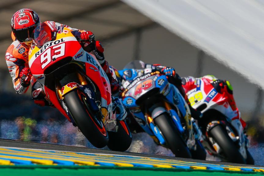 Marc Marquez, Jack Miller, Andrea Iannone, Monster Energy Grand Prix de France