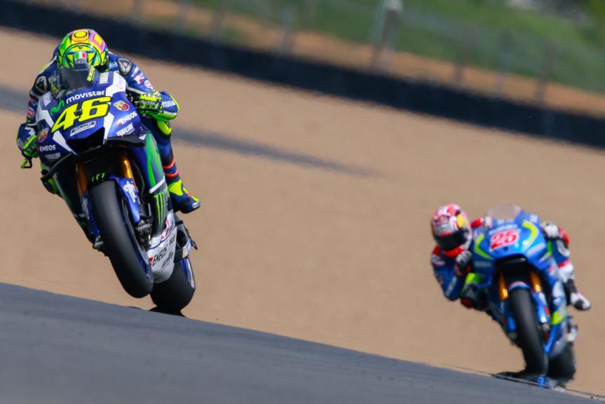 Valentino Rossi, Movistar Yamaha MotoGP, Maverick Viñales, Team SUZUKI ECSTAR, Monster Energy Grand Prix de Franc