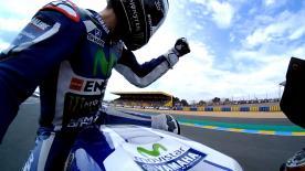 Jorge Lorenzo completa la vuelta más rápida de la historia al circuito de Le Mans para conseguir la pole número 63 de su carrera.